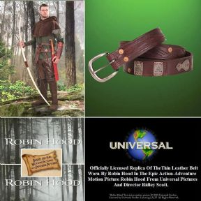 Robin Hood Thin Leather Belt - Officially Licenced